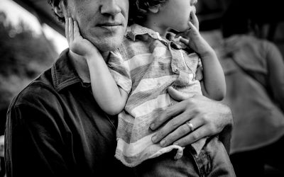 Documentary Family Photography: Father and son Environmental Portrait. Greensboro, North Carolina