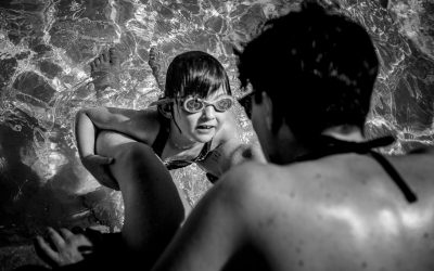 Documentary Family Photography: Poolside, making sure auntie saw her flip! Greensboro, North Carolina