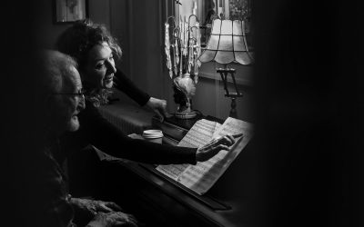 Documentary Family Photography: Father and daughter playing piano together. San Diego, California