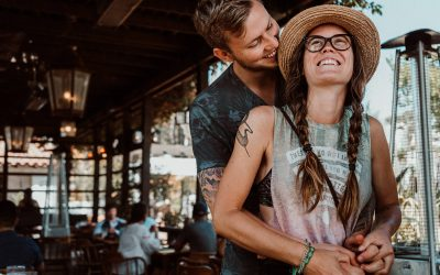 Documentary Family Photography: loving, happy couple holding each other. Old TownSan Diego, California