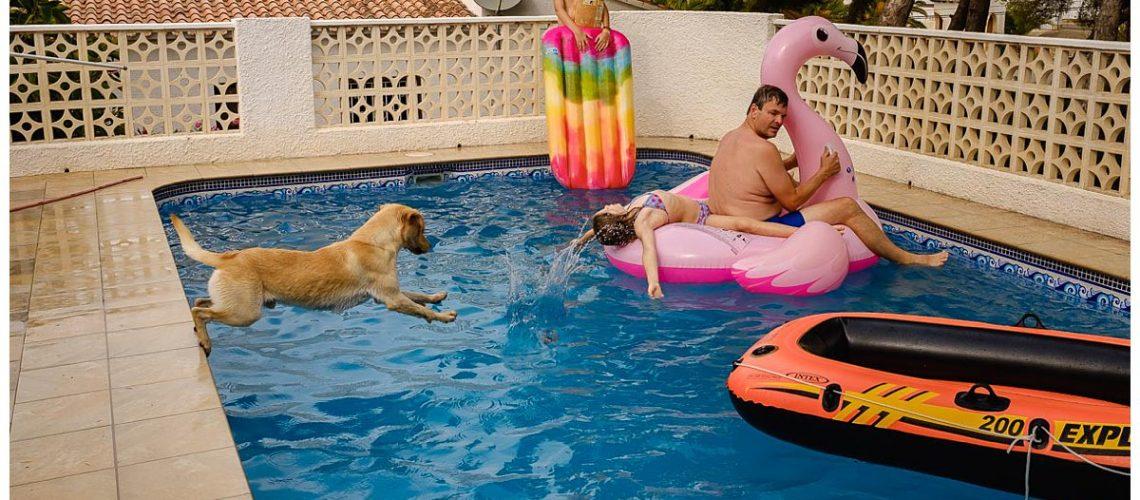 Zwemmen bij Raquel en Michiel in Moraira, Spanje